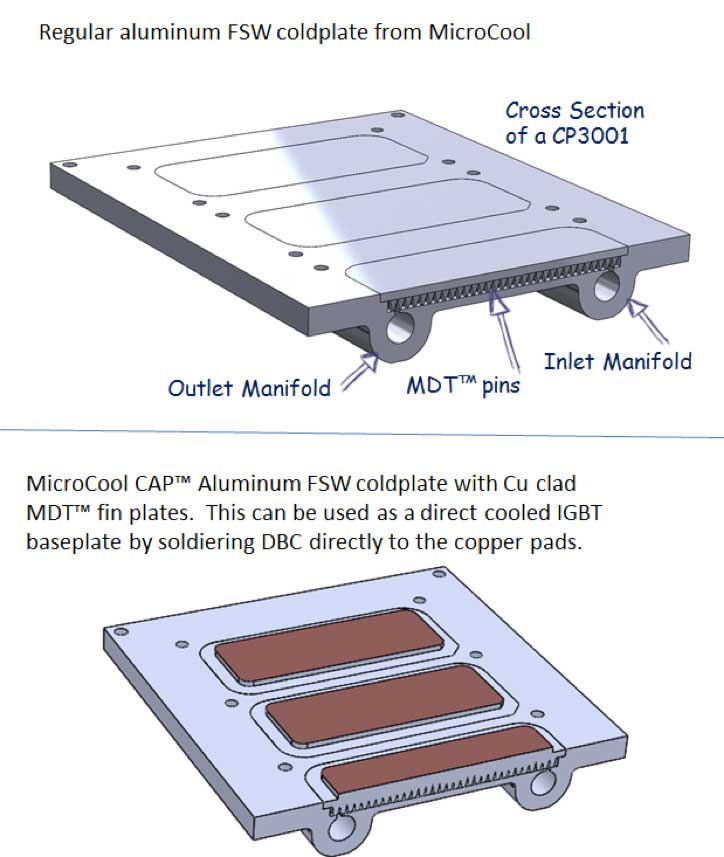 MicroCool CAP cold plate drawings