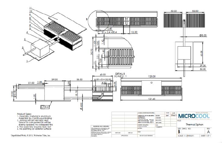 Design drawing using thermosyphon
