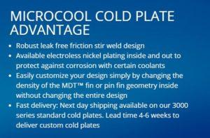 MicroCool cold plate advantage
