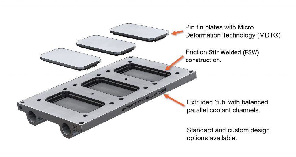 FSW friction stir weld coldplate